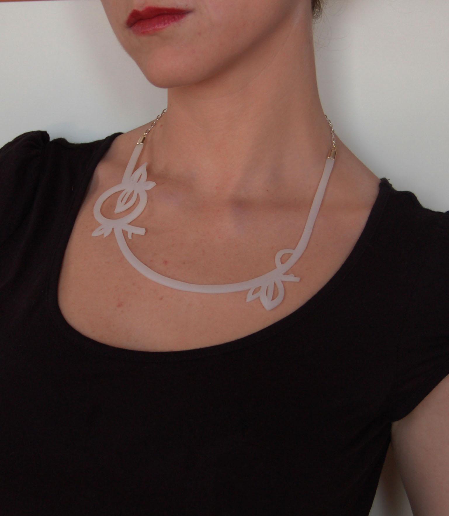 silicone white neckpiece 2
