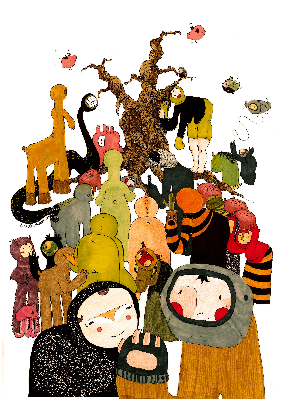 personajes del bosque